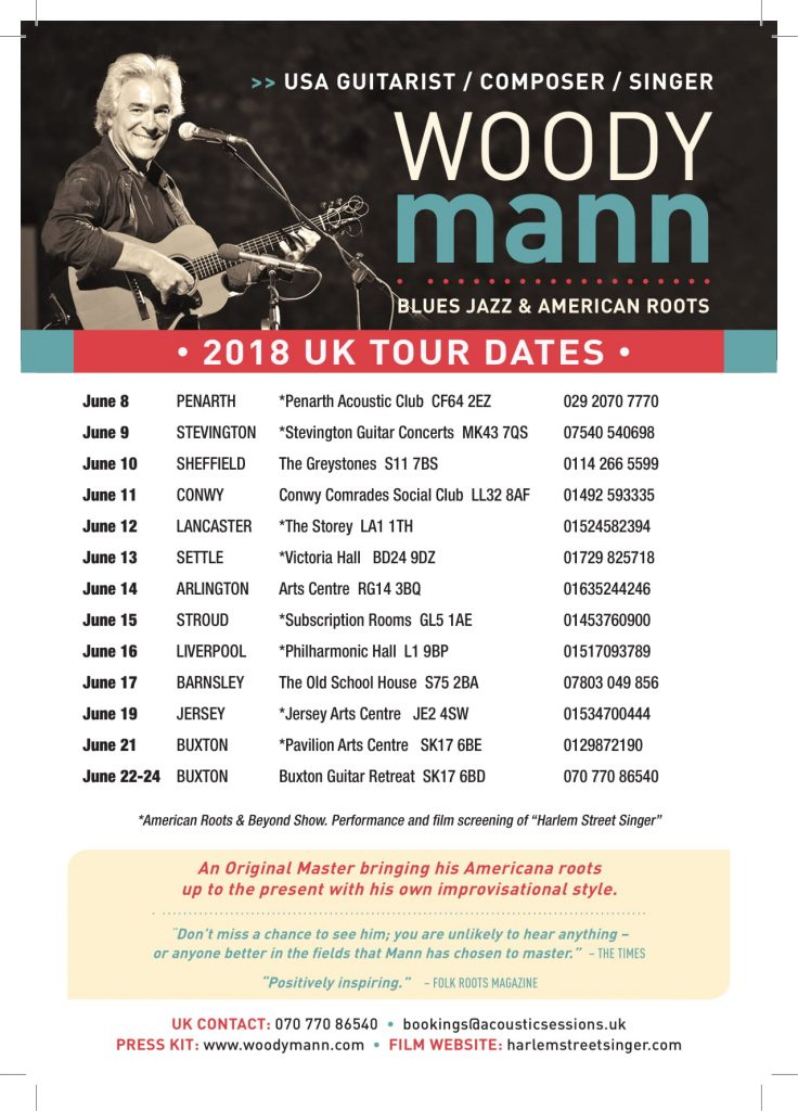 woody mann tour dates)